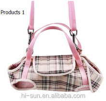 High quanlity canvas cross bag tote cat dog bag pet bag