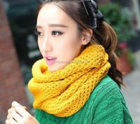 2014 hot selling fashion winter warm knit wool ladies neckerchief .