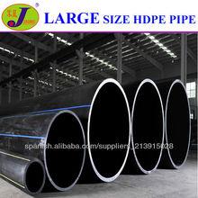 gran tubería HDPE diámetro y accesorios