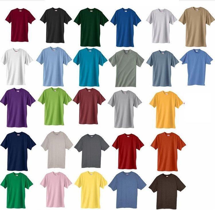 China promote sale cheap bulk short sleeve plain color for Cheap plain colored t shirts