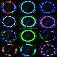 New 7 LED Motorcycle Cycling Bicycle Bike Wheel Signal Tire Spoke Light 30 Changes Patterns Colorful Lamp Bulb