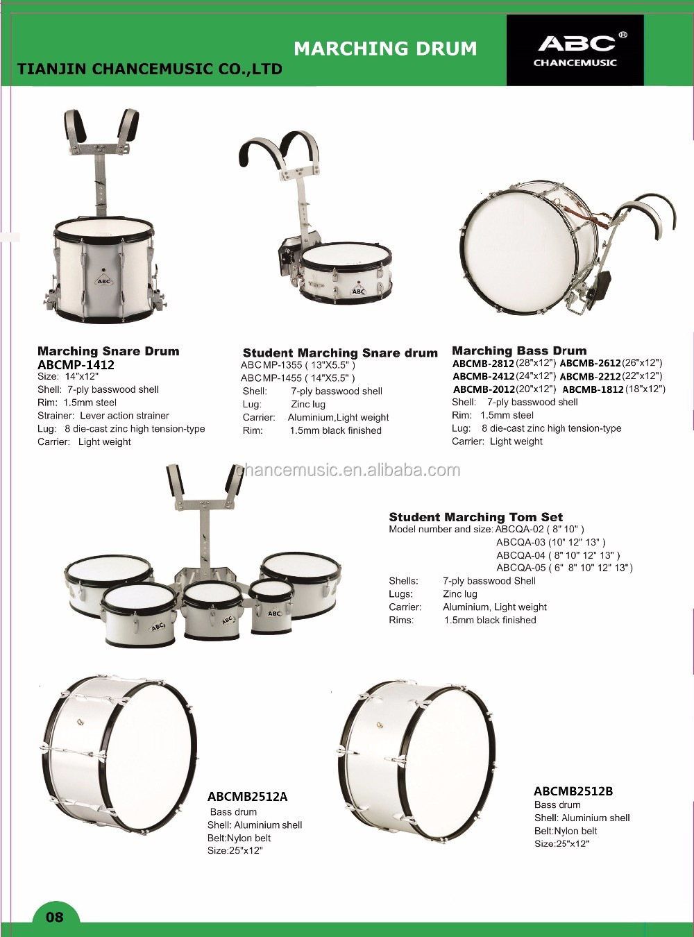 Snare Drum Abcqa 02 03 04 05 Buy Marching Drumsnare Diagram Detailed Images