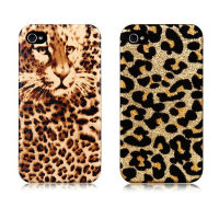 Fashion leopard printed PU leather mobile phone case for iPhone4/4S