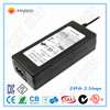 Power Supply 24V DC 2.5A 60W With CE RoHS FCC