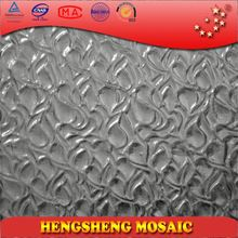 Classic Silver Bumpy Bubble Plating Crystal Glass Mosaic Brick For KTV And Bar Wall And Floor Decoration P12