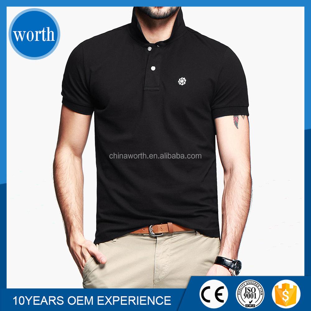 Color combination collar design polo shirt for men with for Polo shirt color combination