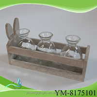 rabbit shape wholesale goods from china resin wood decorations