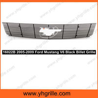 Auto parts aluminum car front Grill for Ford Mustang V6 With Logo Show 2005-2009