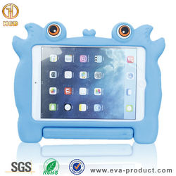 Kid proof tablet case silicone protective case for ipad with stand handle