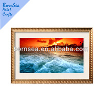 natural scenery customized photogragh picture printing with photo frame