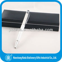 2014 Beautiful colorful crystal hand writing touch screen roller ball pen