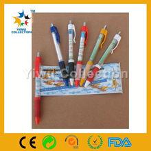 promotional ball pen with banner,key ring metal banner pen,calender pen