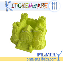 "11""x10"" Green, Silicone Castle Shape Cake Mold Pan"
