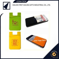 Excellent Promotion New Silicone Card Wallet,Smartphone Mobile Phone Card Pouch