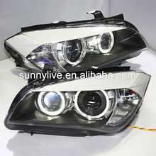 For BMW X1 E84 LED Strip Angel Eyes Head Light 2009-2014 year DB