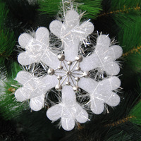 2015 the new foreign trade products sell like 16 cm foam winding double stereo snowflakes Christmas ornaments The best seller