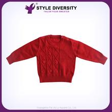 ที่มีมาตรฐานสูงที่เรียบง่ายการออกแบบใหม่ล่าสุดรูปแบบการถักเสื้อกันหนาวเสื้อยืดสำหรับเด็ก