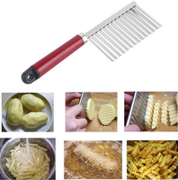 Hot Selling Stainless Steel Potato Cutter Knife Slicer Spiral Vegetable Slicer Wavy Edged Knife Cooking Tools Kitchen Accessorie