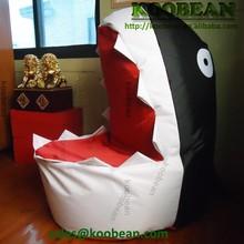 hot sale shark shaped beanbag chair,special design beanbag furniture for kids, child bean bag sofa chair