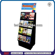 TSD-C255 Supermarket Paperboard Cardboard Display Shelf ,books cardboard corrugated display stand,POP Book Shelf
