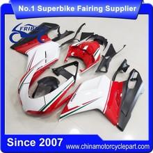 FFKDU004 China Fairings Motorcycle For 848 1098 1198 2007-2012 Evo 13 Style Tricolor Matt Black