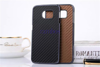 Fashion Carbon Fiber Hard Case Plating Back Cover for iPhone 5 6 6 Plus for HTC One M8 for Huawei P7 Mini