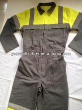 Protex / algodão de alta visibilidade macacão