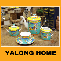 Ceramic Bone China Tea Pot Set Teapot Set Bone China Coffee Set of 11 pcs