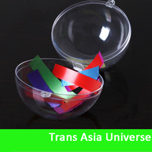 High Quality clear plastic ball container