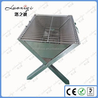 Factory low price foldable legs charcoal stainless steel one time used bbq trailer