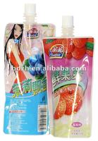 Liquid pouch with spout for juice