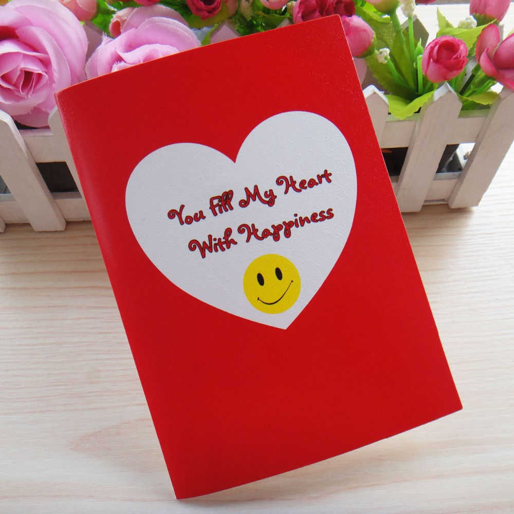 Luxury Valentines Day Gifts Heart Shape Handmade Greeting Card Buy