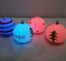 LED Hollow Plastic Christmas Decorative Balls