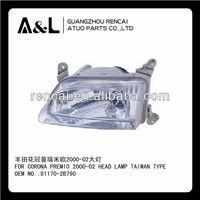For Toyota Corona Premio 2000-02 Head Lamp Assembly Taiwan Type