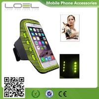 New LED Flash Sports Running Armband Case for iPhone6 Plus
