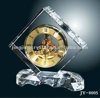 Fashine 2012newest K9 crystal desk table clock