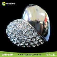 Half Diamond Heart Jewel USB Flash Drive Cheapest high quality Shenzhen Manufacturer