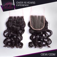Long Life Tangle Free 100% Raw Cheap Virgin Brazilian Hair Closure Accept Paypal