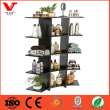 Modern Multi Shelf Wood Display Shelving with Arc Design For Retail Store