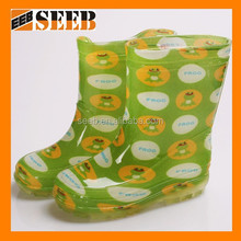 High quality mixed color the frog design child rain boot kids rain boots