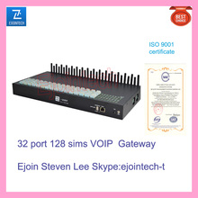 Made in China,32 port VOIP gateway, multi sim cards rotation anti block for IP call