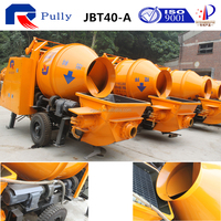 concrete mixer with pump from famous brand pully
