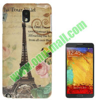 Paris Tower Pattern Plastic Case for Samsung Note3 / N9000