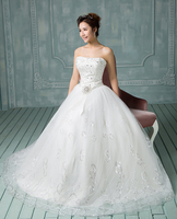 RR2644 2015 elegant customized off the shoulder lace wedding dresses sexy princess wedding bridal gown