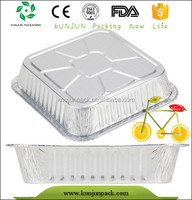 Durable Eco-friendly Food Take Out Rectangle Aluminum Box