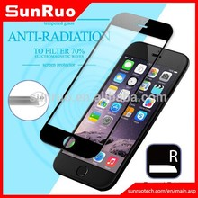 Newest ! Anti-radiation 9H Cell Phone Tempered Glass screen protector for iphone6 6plus with full cover screen (Glass Shield)