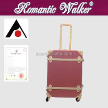 Best quality candy color lady trolley luggage suitcase & Big ABS luggage, hard shell luggage