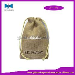 wholesale jute bag / jute gift pouch