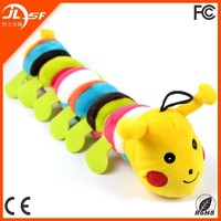 Lovely Soft Safe Nontoxic Dog Chew Toy Caterpillar Pet Plush Stuffed Toy in Colorful