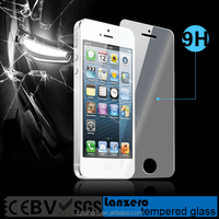 High Quality 0.33mm 2.5D 9H Curved Edge Japan Material Tempered Glass Screen Protector for iPhone 5